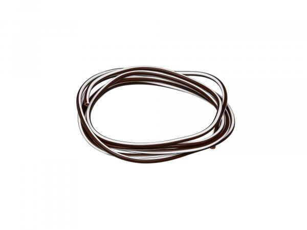 Cable - Brown/White 0,50mm² Automotive cable - 1m