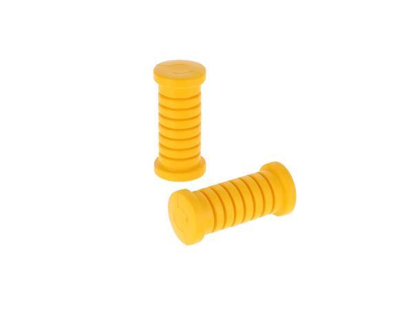 10070020 Set: 2x Fußrastengummi quergerippt in Gelb - für Simson S51, S50, Schwalbe KR51, SR4 - Bild 1