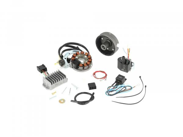 Alternator + ignition system TS250 (4 gear + 5 gear) 12V 150W