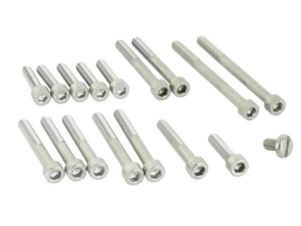 Set: Zylinderschrauben, Innensechskant in Edelstahl für Motor, Kickstarter KR51/1 Automatic