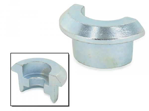 Support ring half small - ALU ball polished - half shell for shock absorbers - Simson Mokick/Roller