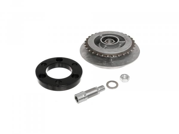 Set: driver 31 tooth, elastic ring, axle extension - Simson SR50, SR80