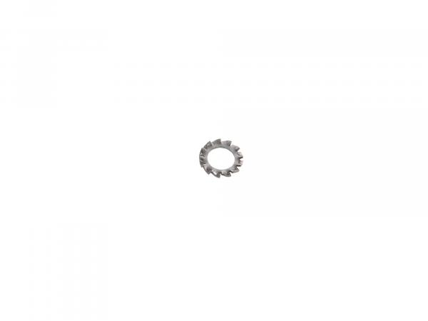 Serrated lock washer A6,4-FSt-phr (DIN 6798) - Phosphate rust protected - External teeth - 6,4 x 11 - 0,7