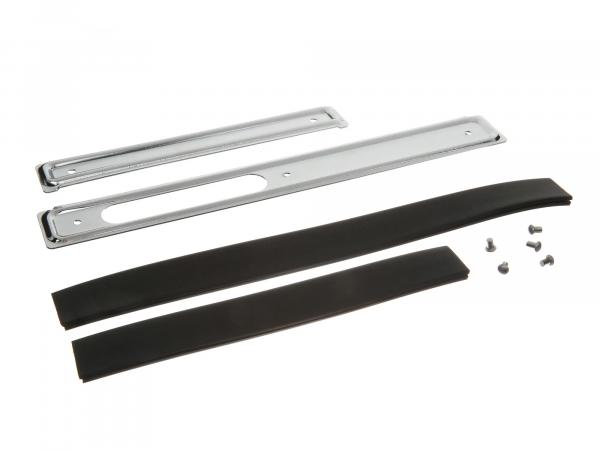Scrubbing bar set - right / left - chrome plated - with piping and rivets - Schwalbe KR51