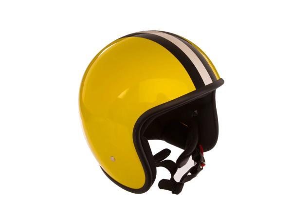 """10068602 ARC Helm """"Modell A-611"""" Retrolook - Gelb mit Streifen - Größe M (57-58cm) - Bild 1"""