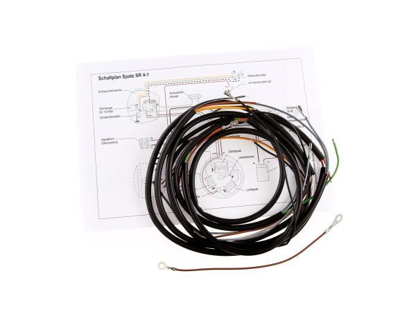 Kabelbaumset Spatz SR4-1 (schwarz) mit Schaltplan
