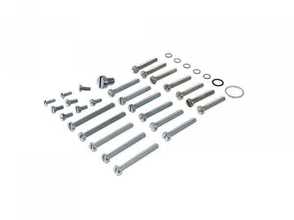 Set: cylinder head screws with gaskets for S50, motor M53, housing, cover