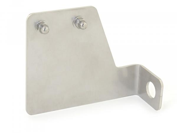 License plate holder made of stainless steel, with fixing material - for Simson SR1, SR2, KR50
