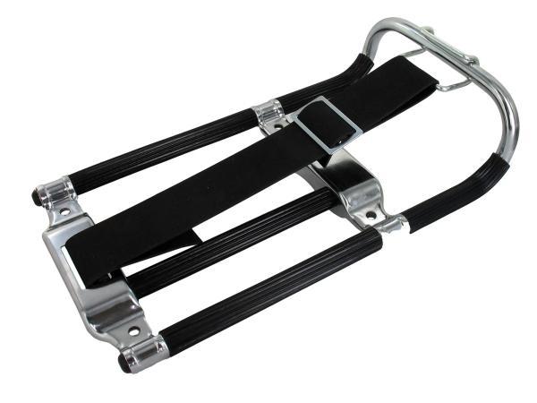 10044071 Gepäckträger KR, schwarz/chrom mit Haltegummi (neue Ausführ.) - Bild 1