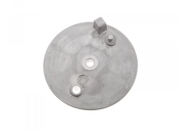 Bremsschild hinten, natur, ohne Loch f. Bremskontakt - Simson S51, S70, S53, S83, KR51/2