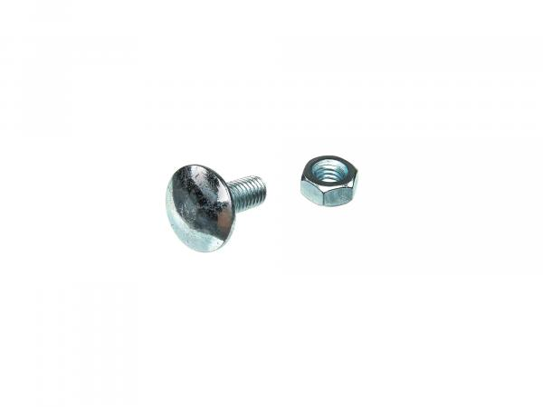 Truss-head bolt, with nut M6x16 - DIN603