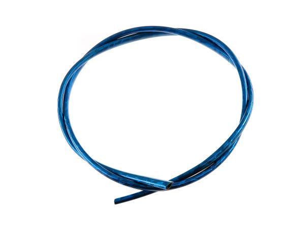 Gummi - Keder, Zierleiste, Blau hochglanz, 1 Meter, mit Klebung - für Simson Schwalbe KR51