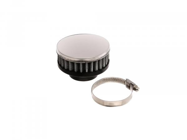 Air Filter Sport - Chrome, flat (28 - 35 mm)