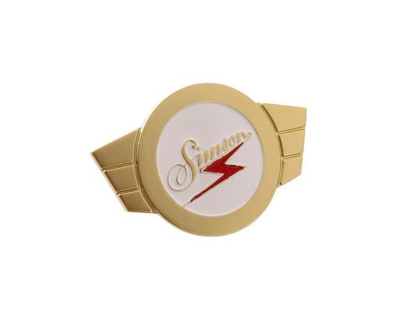 "Trademark badge ""Simson"" Gold - KR51 Schwalbe, SR4-1 Spatz, SR4-2 Star, SR4-3 Sperber, SR4-4 Habicht"