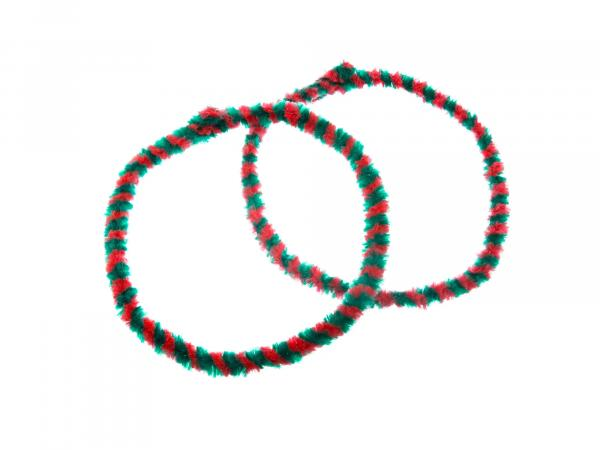 Hub cleaning rings WÜMA red/green (set 2x 56cm for moped, mokick)