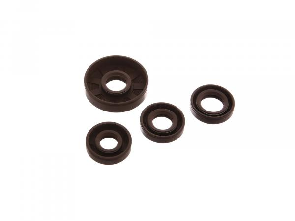 Set: Oil seals motor complete, brown - for Simson SR1, SR2