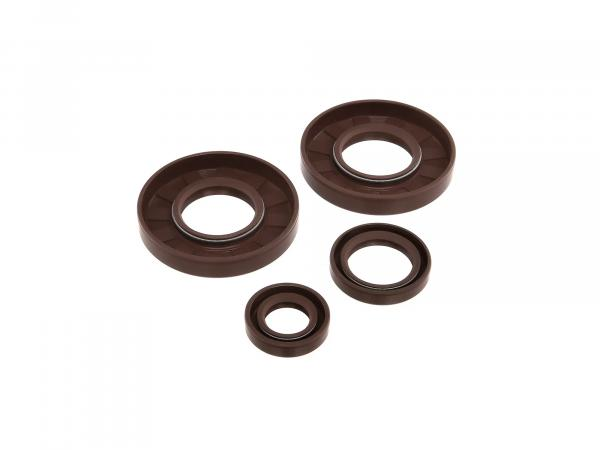 Set: Oil seals motor, brown, double lip - for MZ ES175/1, ES250/1, ES300