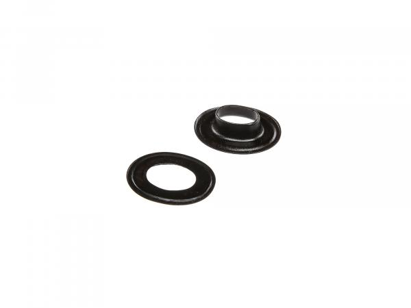Eyelet with washer for swivel, black