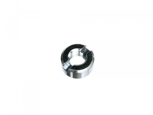 slotted nut M10 galvanized, DIN 546 suitable for AWO 425 ( front fork )