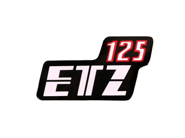 Klebefolie Seitendeckel - Rot/Schwarz/Weiß ETZ 125