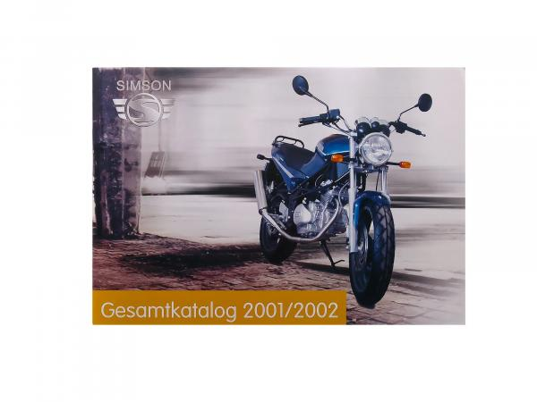 Old vehicle catalogue SIMSON - colour print (by SIMSON-Motorrad GmbH 2001/2002 - clearance sale remaining stock)