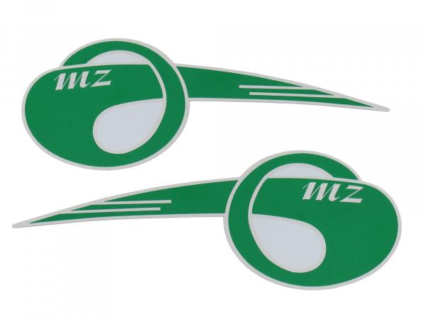 "Set: 2x lettering (foil) ""MZ"" curved, large"