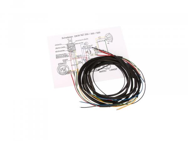 Cable harness suitable for NZ 250/350/500 (DKW) (with wiring diagram)