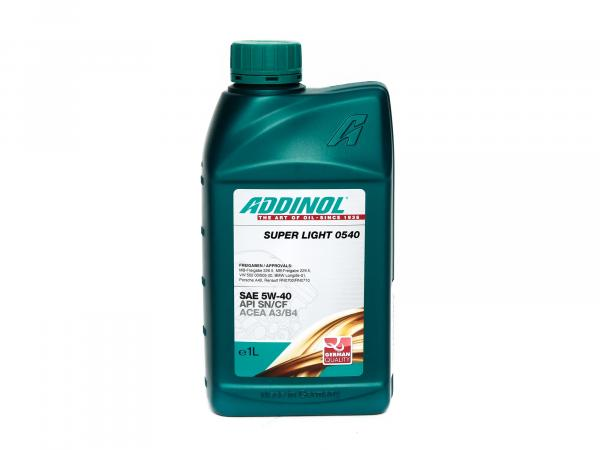 ADDINOL PKW SAE 5W-40 SUPER LIGHT MV 0540 Engine oil, fully synthetic, 1 L tin