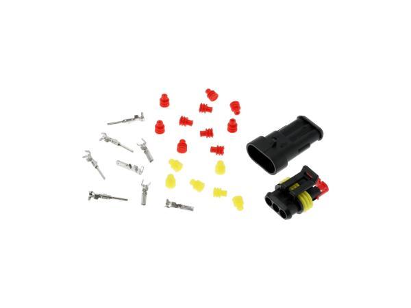 Set: Leitungsschnellverbinder 3-Polig, wasserdicht