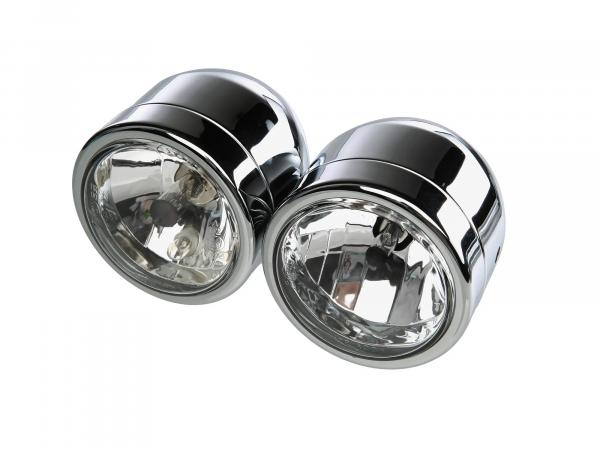 Double headlights in chrome
