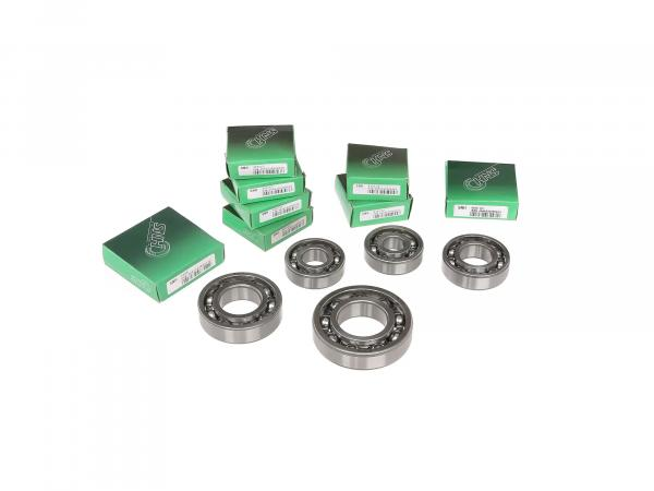 Set: Ball bearing motor + gearbox, 9 pieces - Simson AWO 425S, 425T
