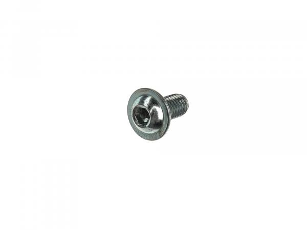 Pan head flange screw, hexagon socket M6x12 - DIN7380