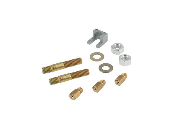 10068427 Set: Stehbolzenadapter inkl. Hauptdüsen für ZT-VM 20 Vergaser - Bild 1