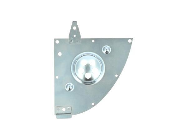 10069664 Abdeckplatte Gehäusemittelteil mit Aufhängung Leitungsverbinder - Simson S51, S70 - Bild 1