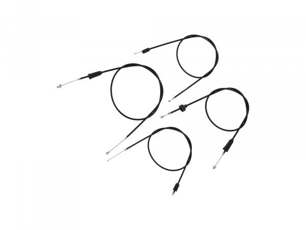 10069806 Set: 4 Bowdenzüge schwarz, Trommelbremse - MZ ETZ 250 - Bild 1