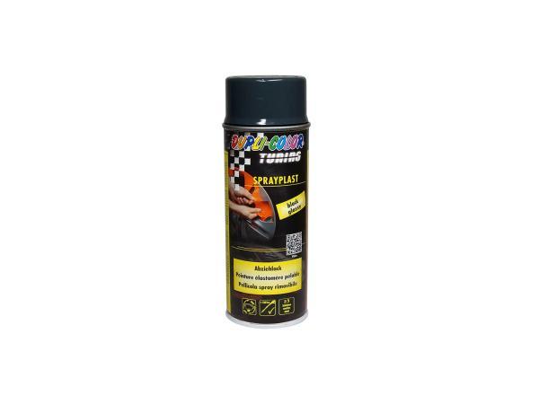 Dupli-Color Sprayplast Abziehlack, schwarz, glänzend - 400ml