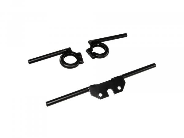 Set: indicator carrier front and rear, black, Ø10mm - for Simson S50, S51, S70