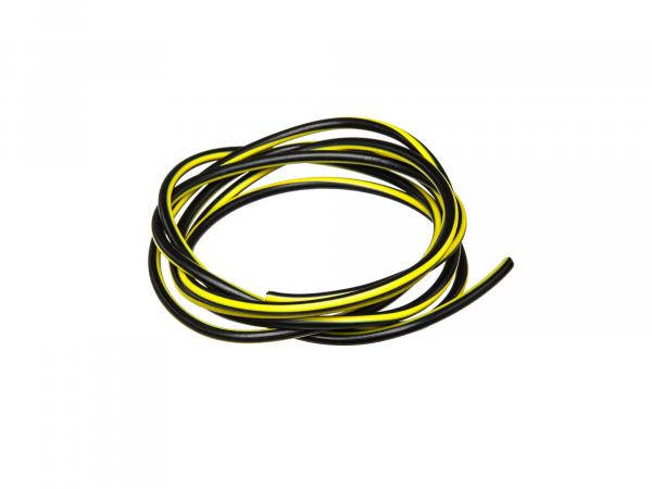 Cable - black/yellow 0,50mm² Automotive cable - 1m