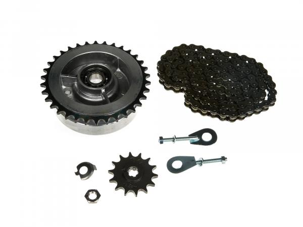 Small sprocket drive set (chain set) - for Simson S50