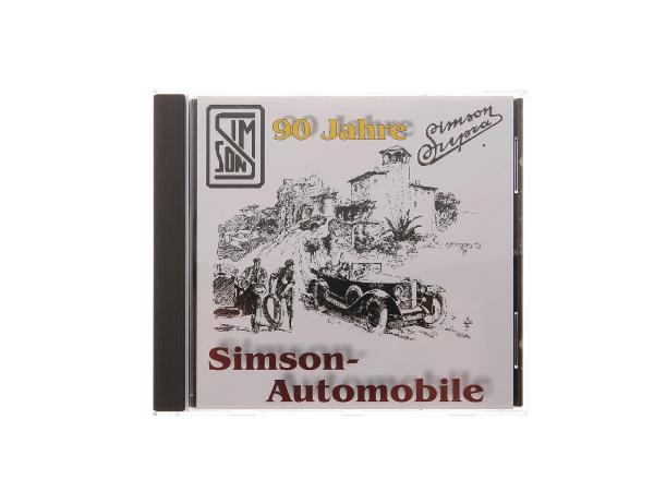 CD, SIMSON Automobile -The almost forgotten oldtimer- (development SIMSON-Automobile 1911-1934, spare parts catalogue, advertising catalogue, contemporary documents)