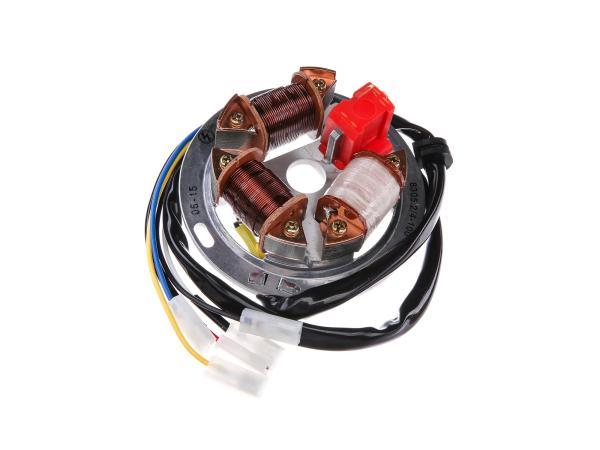 Base plate 8305.2/4-100, 12V electronics (42/21W Bilux) - Simson S53