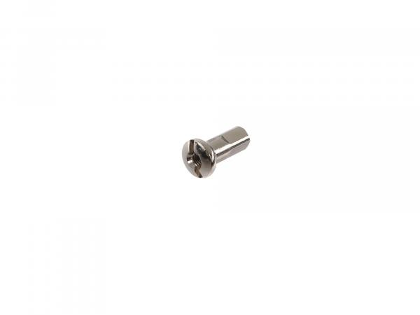 spoke nipple - 18mm M3,5 nickel plated - for Simson S50, S51, S70, KR51 Schwalbe, SR4 bird series
