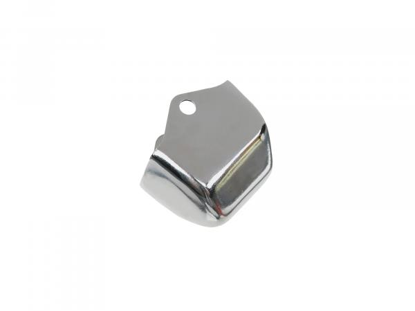 Housing for handlebar switch - Blind switch cover - Chrome-plated metal housing without cut-out for cable