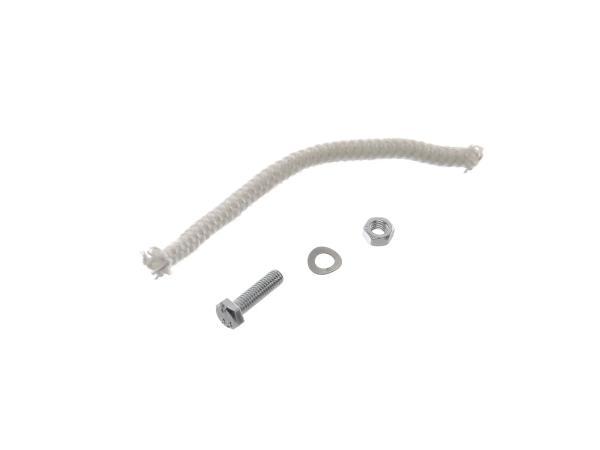 Kleinteile-Set: (Glasfaserschnur und Schraube für Schalldämpfer 6 x 110 lg.)