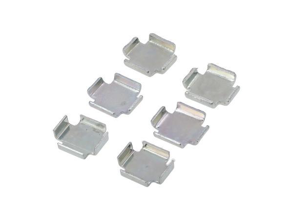 Set: 3x2 Bremsbackenzwischenlage 1,0 / 1,5 / 2,0 mm - Simson S51, S50, SR50, KR51 Schwalbe, SR4