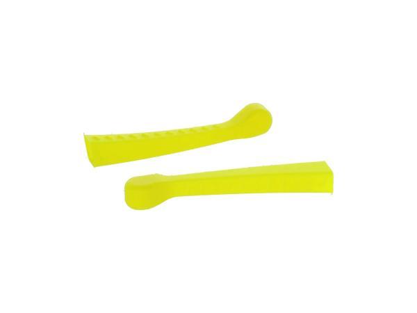 10070478 Set: 2x Handhebel-Hülle 3D, Neon Gelb, Sport-Optik - für Simson S50, KR51/1 Schwalbe, SR4-2 - Bild 1