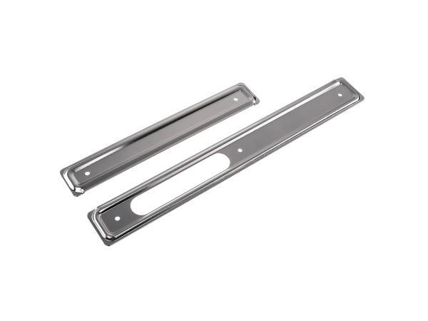 Set: Scheuerleisten rechts + links, Aluminium - Simson KR51 Schwalbe