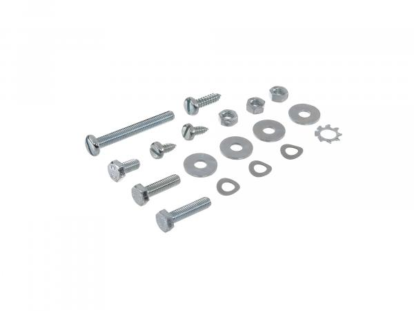 Set: hexagonal/slotted screws housing middle section/heart box S50, S51, S70
