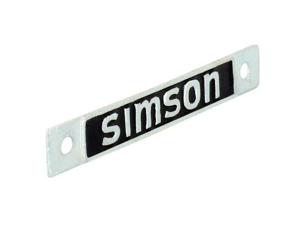 Plakette, Hersteller SIMSON, Sitzbank - Simson SR4-1 Spatz, SR4-2 Star