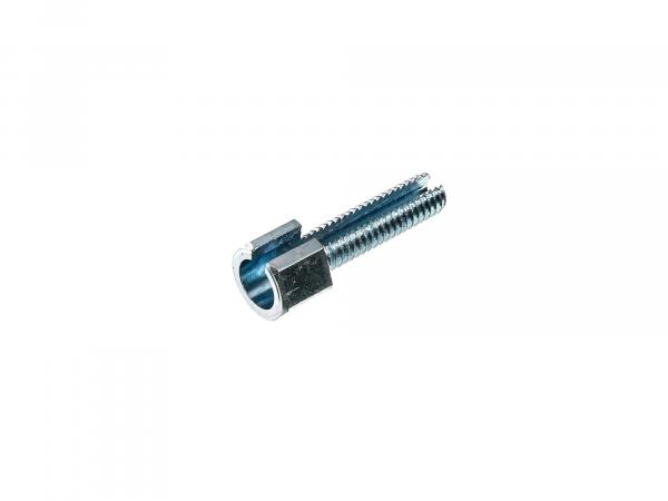 Adjusting screw short without knurled nut - M6x22 - slotted - f. Handlebar fittings (Bowden cables) - Total length 30mm - Simson - MZ